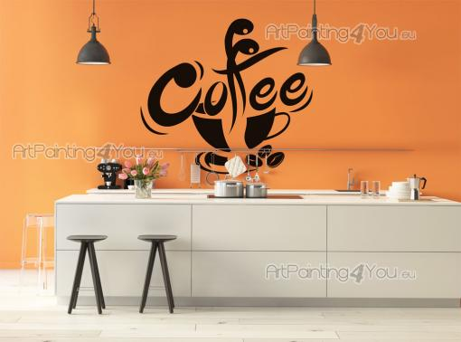 Kitchen Wall Stickers - High-quality wall stickers for your kitchen. Show your love for one of the world's most consumed beverages with a simple, yet stylish cup with coffee ...