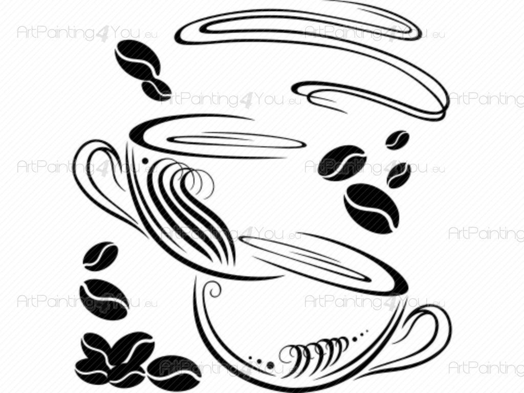 Wandtattoo Kaffeetasse | ArtPainting4You.eu®