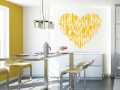 Kitchen Utensils - Cozy up your kitchen with wall stickers and decals. Our heart of utensils displayed vertically is a nice way to show your friends and family how much you enjoy eating... with them!