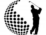 Sport Wall Stickers - Golf is a sport that requires precision and patience. If you like it and play it, add to your room decor this wall decal with the silhouettes of a gol...