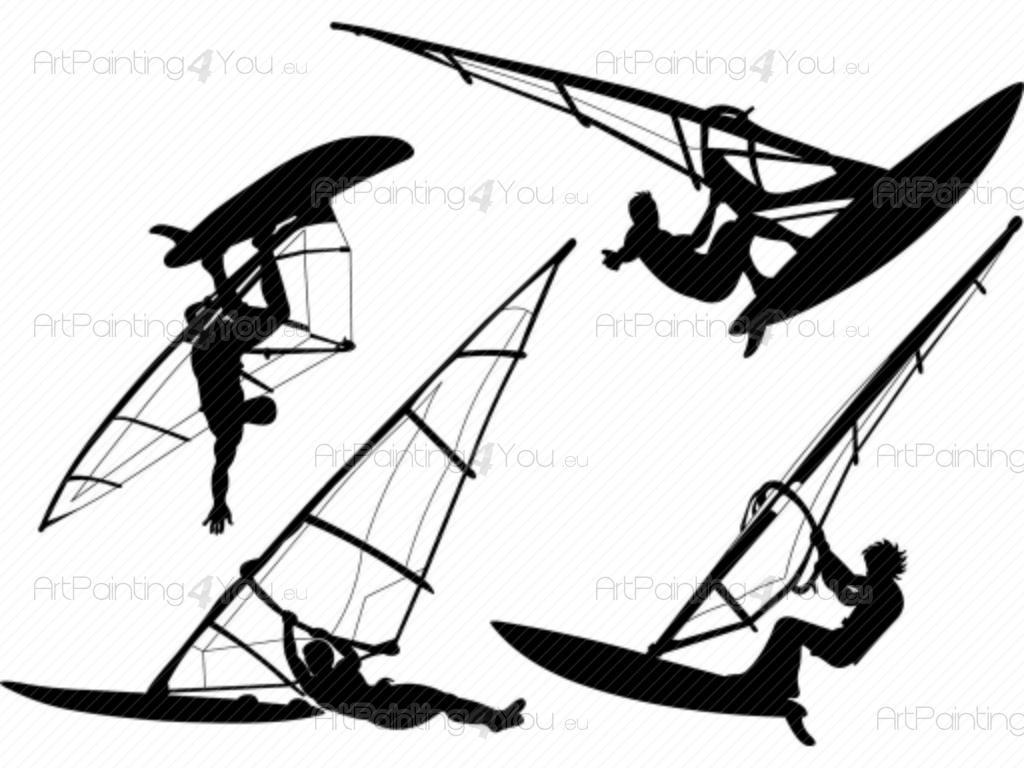 Wall Stickers Windsurf Kit Artpainting4you Eu
