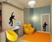 Skateboarder (Kit) - Sport Wall Stickers