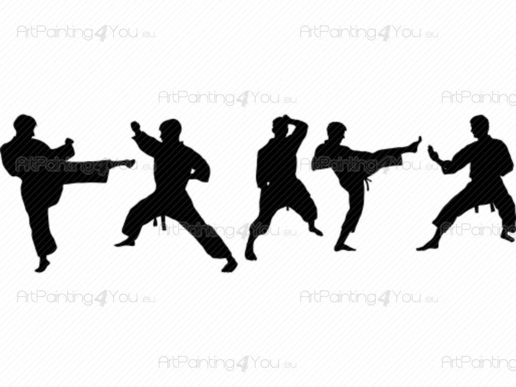 Wall Stickers Karate (Kit) | ArtPainting4You.eu®
