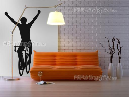Bicyclist Silhouette - Sport Wall Stickers