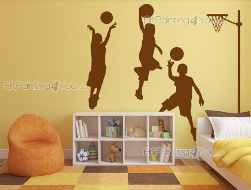 Wall Stickers for Kids - Basketball is a very popular sport among young people. Do your kids like to play it? Then decorate their room with this kit of wall decals featuring t...