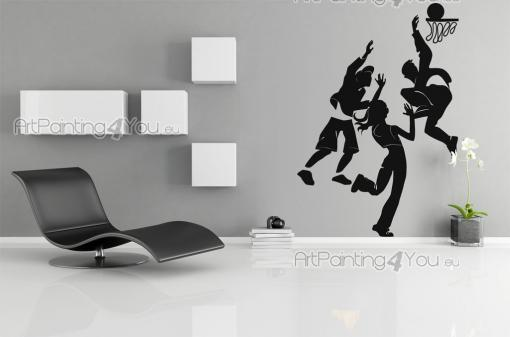 Sport Wall Stickers - Do you like playing basketball with your friends and schoolmates? Then decorate your bedroom accordingly! This kit of silhouette wall decals includes ...