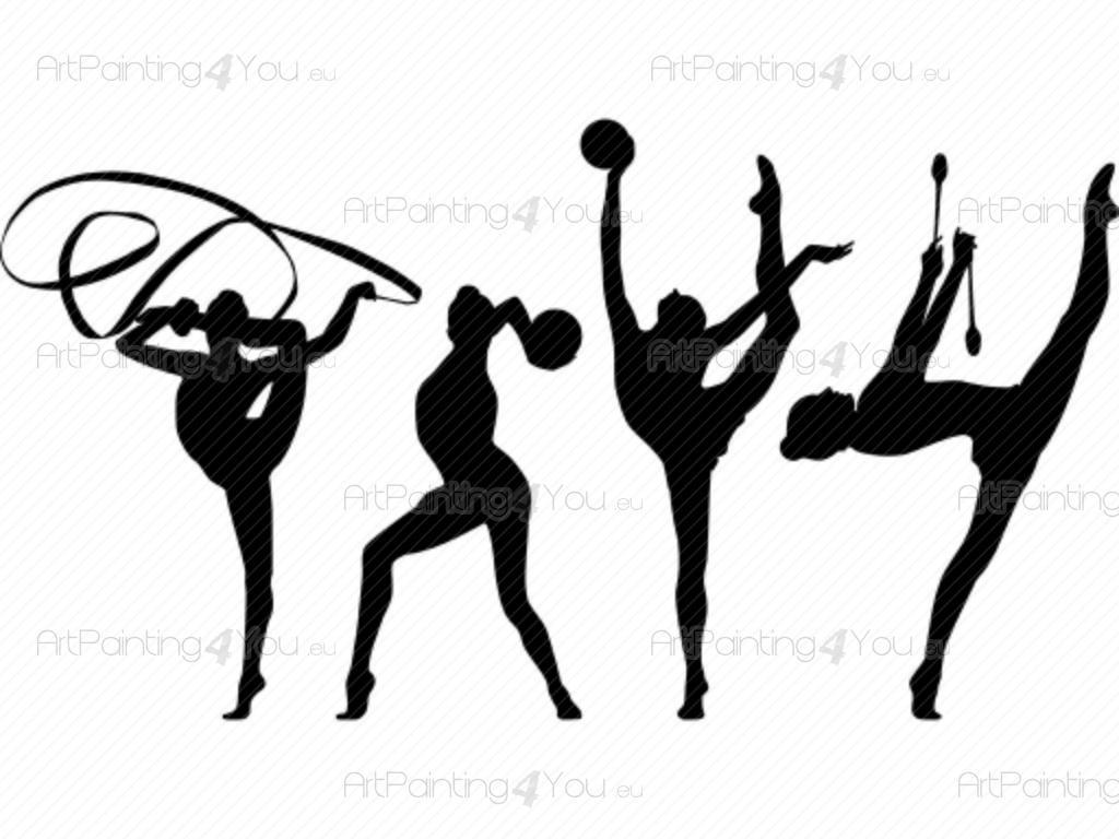 Wandstickers Rhythmische Gymnastik (VDD1038de