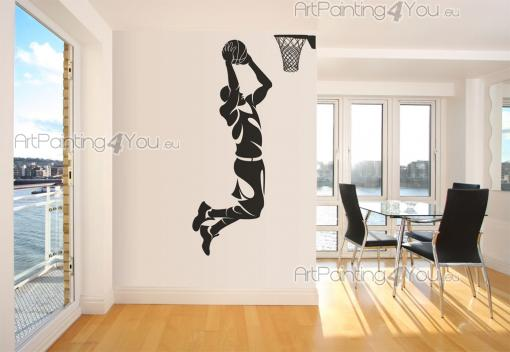 Basketball Player - Wall stickers with a player dunking a basketball