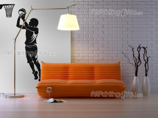 Sport Wall Stickers - If you like basketball, then score some points with the aid of our silhouette wall stickers. Apply on a bedroom wall this juvenile basketball player a...