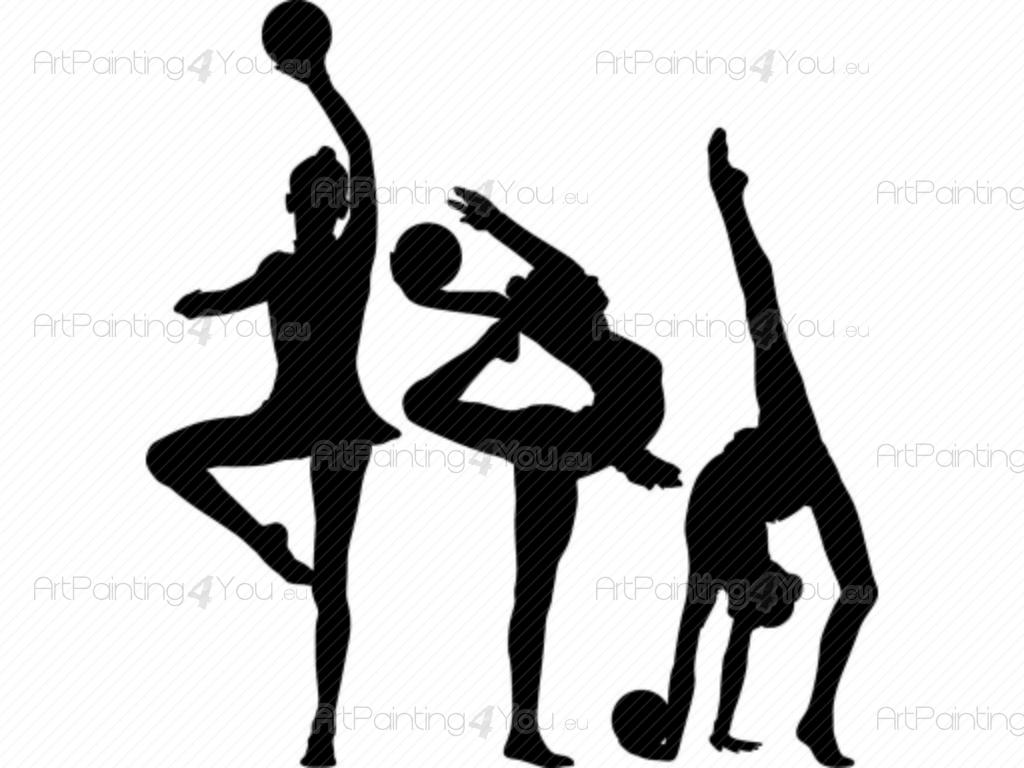 Wall Decals Rhythmic Gymnastic