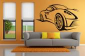 Racecar - Sports cars are quite a vision to many! Here's a decor suggestion for the bedrooms of those like you, who love fast vehicules: a wall decal with the silhouette of a mighty sports car.