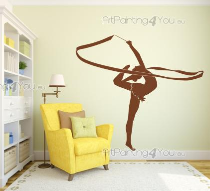 Sport Wall Stickers - Do you like rhythmic gymnastics? Can you stand on one foot, spin like a ballerina, draw with a ribbon attached to a stick? Then place on a wall of you...