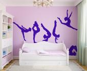 Rhythmic gymnastics is a sport that joins physical activity and art expression. If your little girl likes and plays this sport, surprise her with this set of wall decals with six young and agile athletes. Liven up the kids room decor!