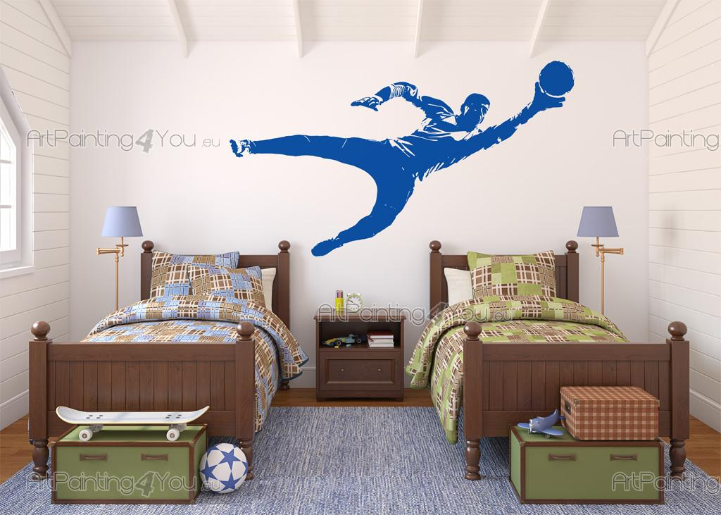 Football Goalkeeper - Wall decals of a goalkeeper with a soccer ball