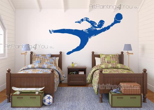 Football Goalkeeper - Wall decals of a goalkeeper with a soccer ball.