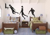 Basketball Players (Kit) - Original wall decals perfect for decorating the children's bedrooms and teens, with 3 basketball players