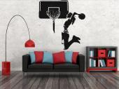 Sport Wall Stickers - Apply on your bedroom walls decals that tell a bit about yourself. If you're a basketball fan, then you'll really like this sticker with the silhouett...