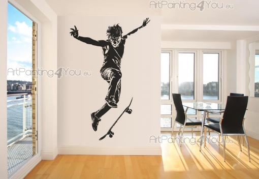 Sport Wall Stickers - Decorate your bedroom with wall stickers designed for sports fans, particularly radical modalities! Apply on a wall a decal with the silhouette of a s...