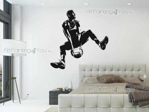 Sport Wall Stickers - Wall decals for sports lovers! If you're a basketball player, here's something to help you personalize your room: a sticker featuring a player about t...