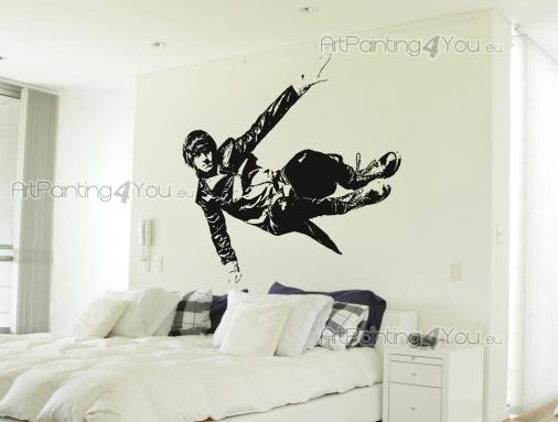 Sport Wall Stickers - Combine running, jumping and climbing and get into the exciting world of parkour! Motivate yourself with the sight of large vinyl sticker on a bedroom...