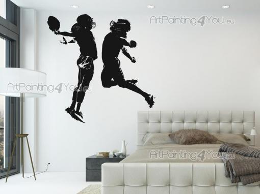 Sport Wall Stickers - Wall decals with exclusive design showing two american football players.