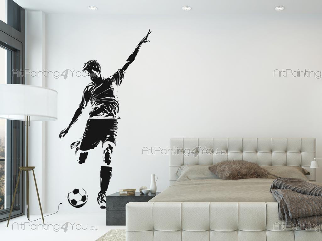 Stickers Muraux Joueur De Football Artpainting4you Eu