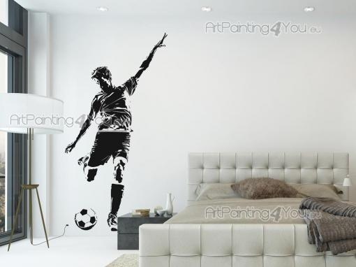Sport Wall Stickers - Towards victory we shall run! Have on your bedroom walls stickers and decals that celebrate the greatest sport on Earth: football. Here's a silhouette...