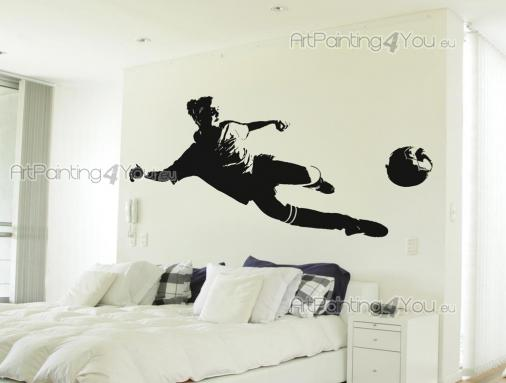 Sport Wall Stickers - Wall decals with a female soccer player.