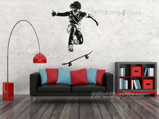 Sport Wall Stickers - Wall stickers on radical sports! Skateboarding might look scary and hard to many, but not to you! Give a taste of your favourite sport to your bedroom...