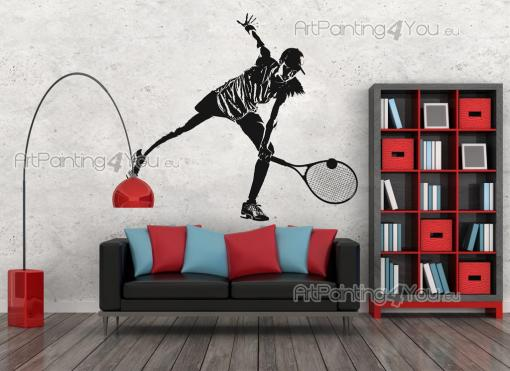 Sport Wall Stickers - Wall stickers for lovers of sports! Are you a fan and player of tennis? Then customise your bedroom with a decal featuring an exclusive silhouette of ...