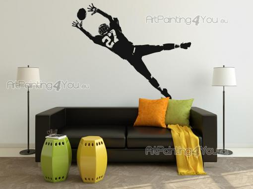 Sport Wall Stickers - Decorate your room with cool wall stickers! American football is no longer just a sport played in the USA and Mexico. This decal features a silhouette...