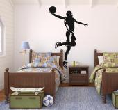 Wall stickers with a player dunking a basketball