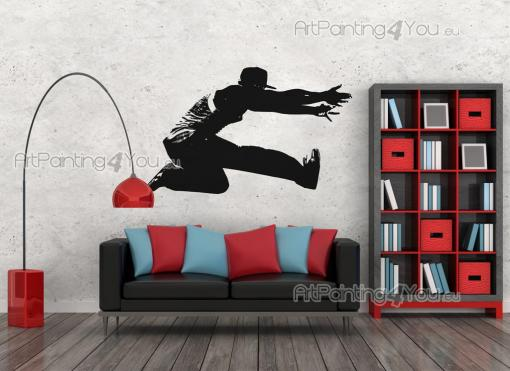 Sport Wall Stickers - Sporty wall stickers! Ever heard of parkour? Have you tried it yet? Even if you haven't, it's amazing just to watch a traceur face obstacles and jump ...