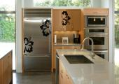 Floral Wall Stickers - Turn the kitchen into a truly nonchalant room by using a set of tropical wall decals. Apply these three silhouettes of precious hibiscus flowers on di...