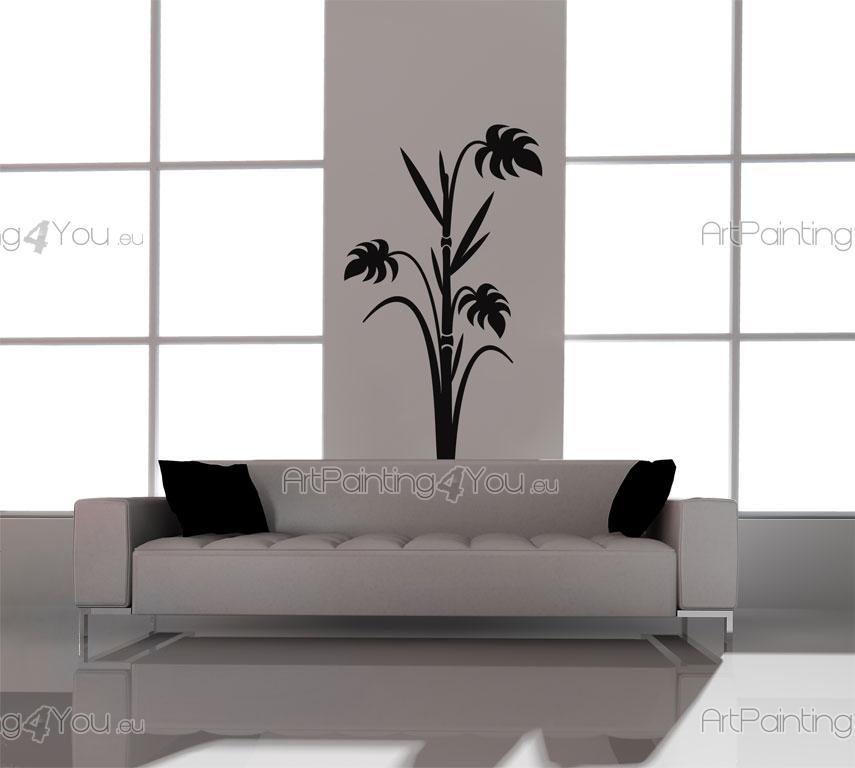 Adesivi murali florali bambù (962it)