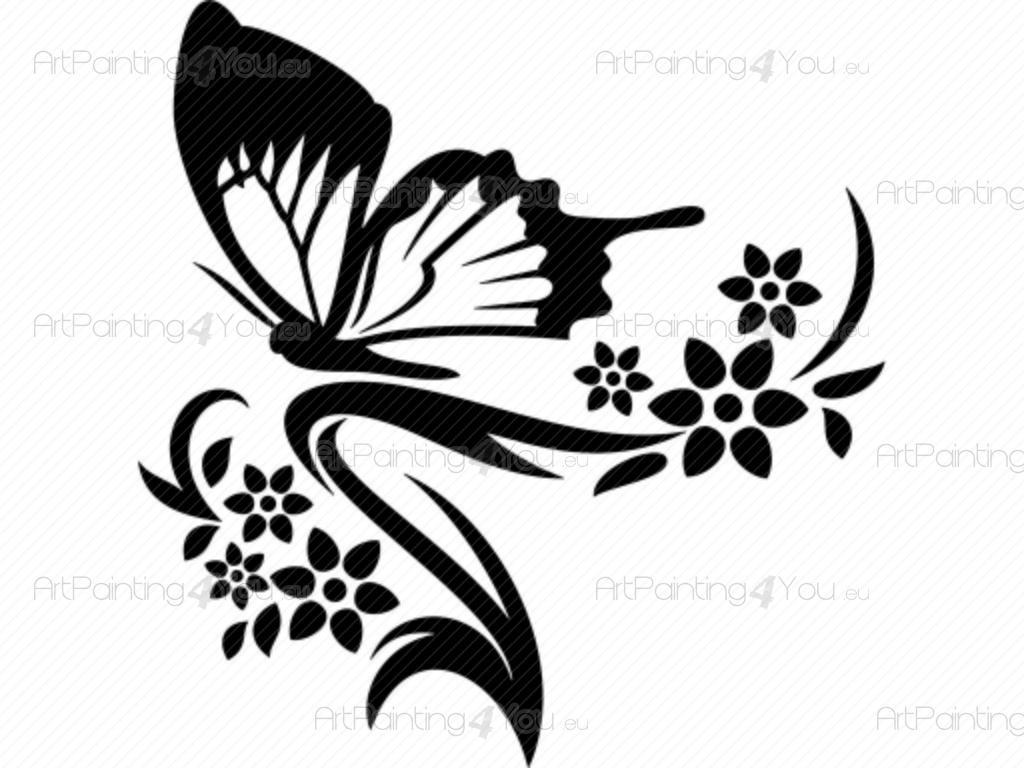 Vinilos decorativos animales mariposas mariposa tribal tattoo for Vinilos mariposas
