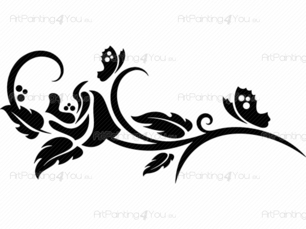 Wall Stickers Abstract Rose Artpainting4you Eu