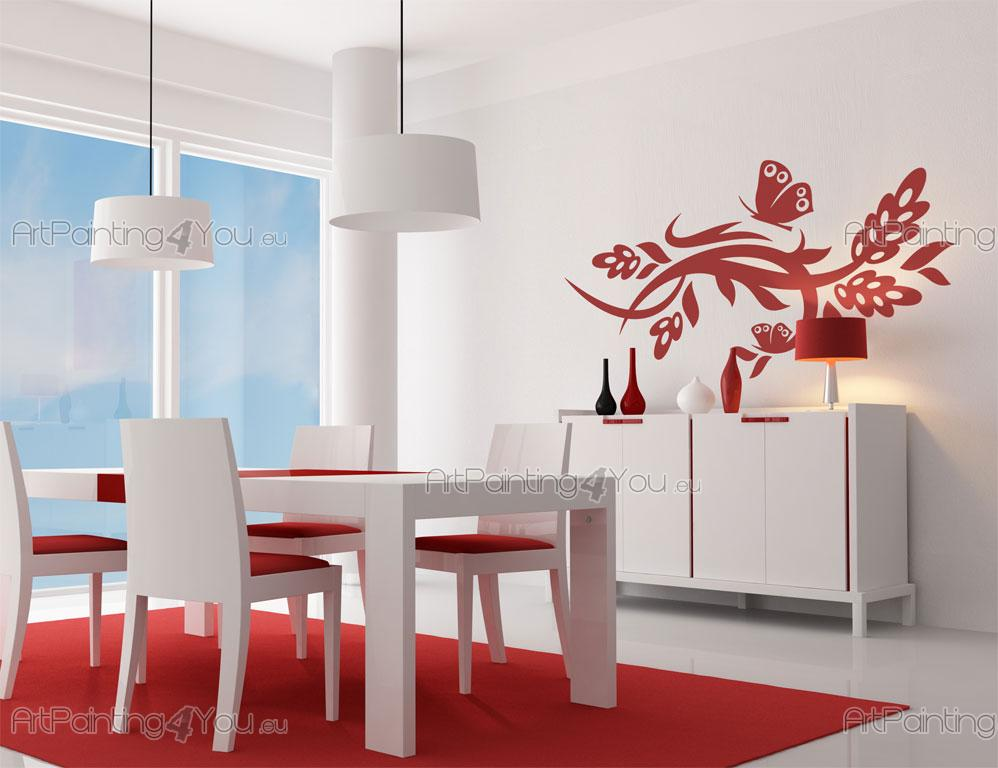 Vinilos decorativos flores mariposas artpainting4you for Vinilos mariposas