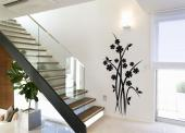 Floral Wall Stickers - Let flowers create an atmosphere of country serenity at home. Decorate a hall or a living room with a silhouette wall decal such as this, with a bunch...
