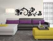 Floral Butterfly - Butterflies Wall Stickers