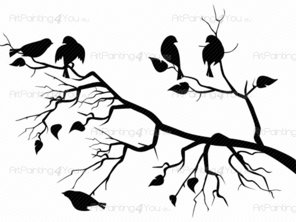Wall Decals Tree  for Wall Sticker Tree Silhouette  58cpg