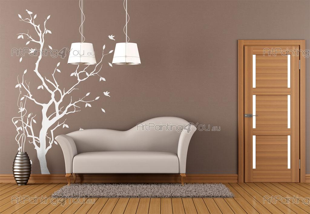 Tree - Wall decals with a tree and birds for living room decoration‎
