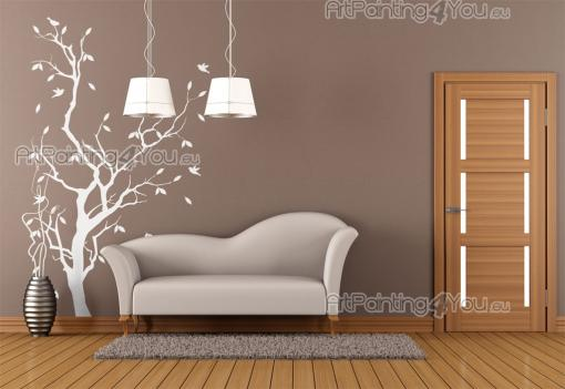 Wall Stickers - Wall decals for any room. Add this silhouette of a tree in Autumn to your living room decoration and give it an elegant touch. The birds flying around...