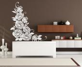 Floral Wall Stickers - Floral wall stickers for a living room or kitchen. Decorate a piece of furniture or a wall with this decal with a bouquet of large, fresh roses. The r...