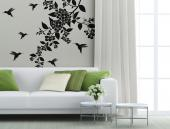 Floral Wall Stickers - Soften the decor with wall decals with floral motifs and designs. Place under the cornice of your living room or study this charming set of wall stick...