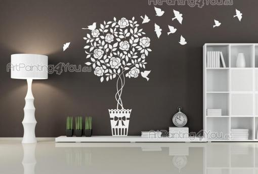 Floral Wall Stickers - Flowers can be the prettiest decor pieces, but they are also delicate. If your living room is not adequate for flowers, then what about floral wall de...