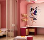 Girls Wall Stickers Princesses & Fairies - Some fairies are as tall as humans. This fairy, a brunette with blue and purple wings, loves to dance and mesmerize others with her moves. Surprise yo...