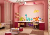 Dinosaurs (Kit) - If your children are crazy about dinosaurs, surprise them with this colourful set of wall decals with six prehistoric animals drawn in a creative and endearing way with some little plants to give a finish touch to the decor. Apply the stickers on the walls of your baby or kid's bedroom.