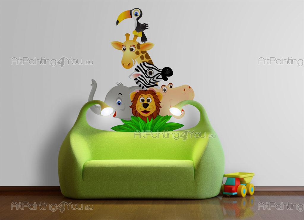 Wandtattoo Kinderzimmer Safari Zoo Artpainting4you Eu Vdi1014de