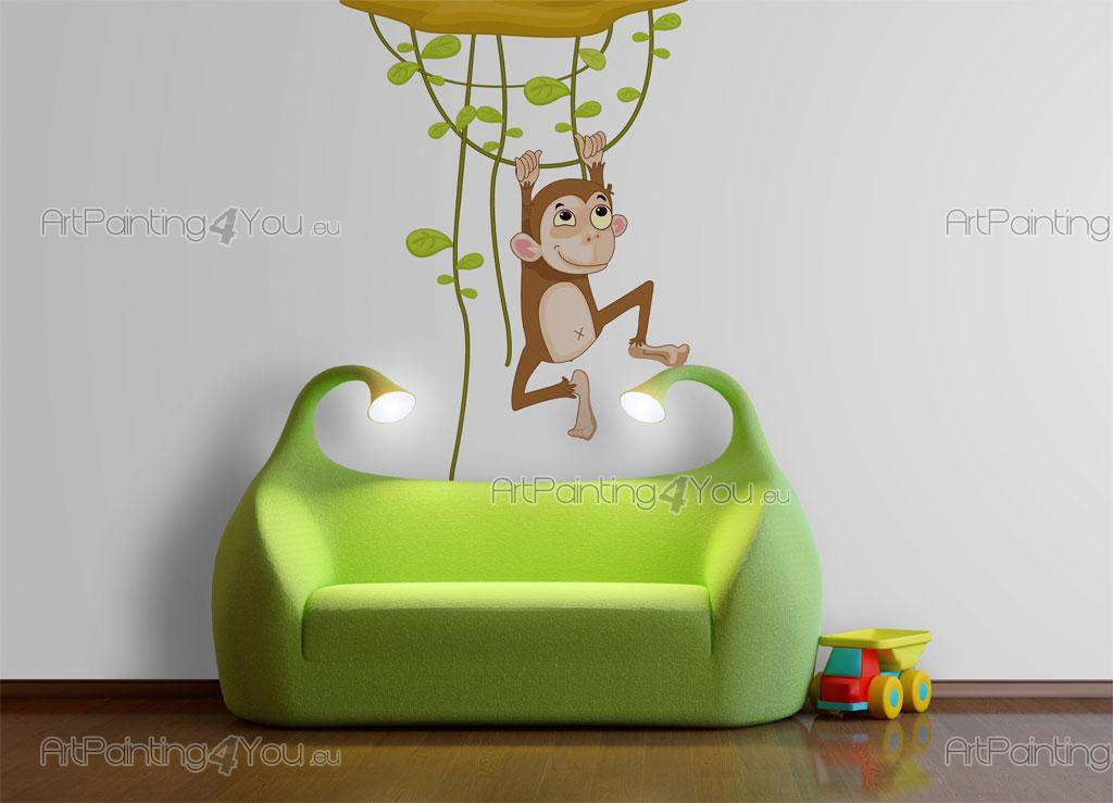 8 adesivi murali bambini scimmie giungla 997it 5 for Adesivi murali x bambini